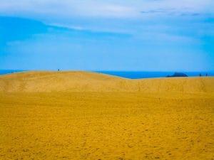 日本海海岸に広がる鳥取砂丘