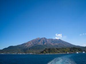 日本有数の火山、桜島