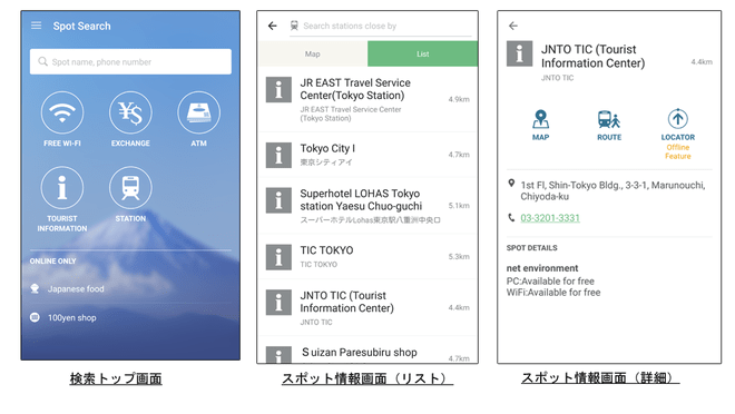 利用画面:NAVITIME for Japan Travelより
