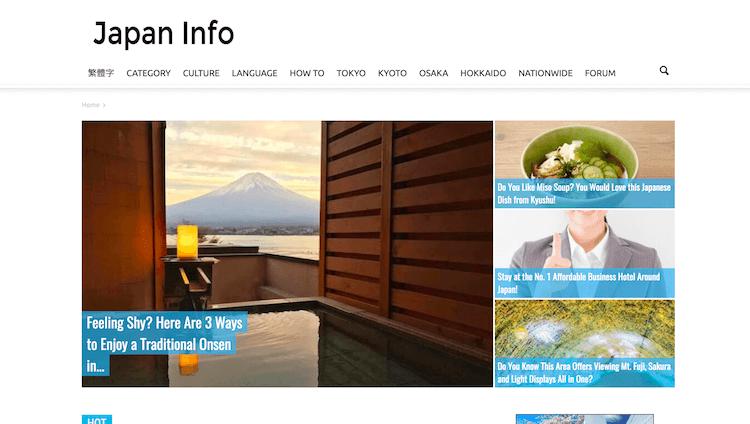 15. Japan Info
