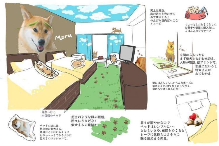 柴犬まるキャラクタールームイメージ