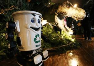 「変なホテル」ゴミ箱ロボット:産経ニュースより