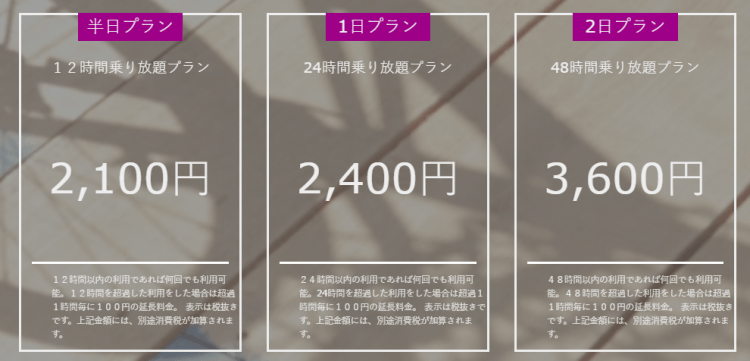 【東京の外国人向け自転車レンタルサービス②】コギコギ 料金プラン
