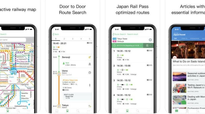 NAVITIME for Japan Travel 利用イメージ:App Storeより