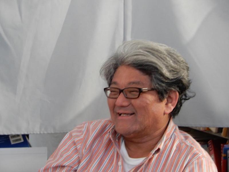 ▲取材には、下田市観光大使の岡崎大五氏も同席