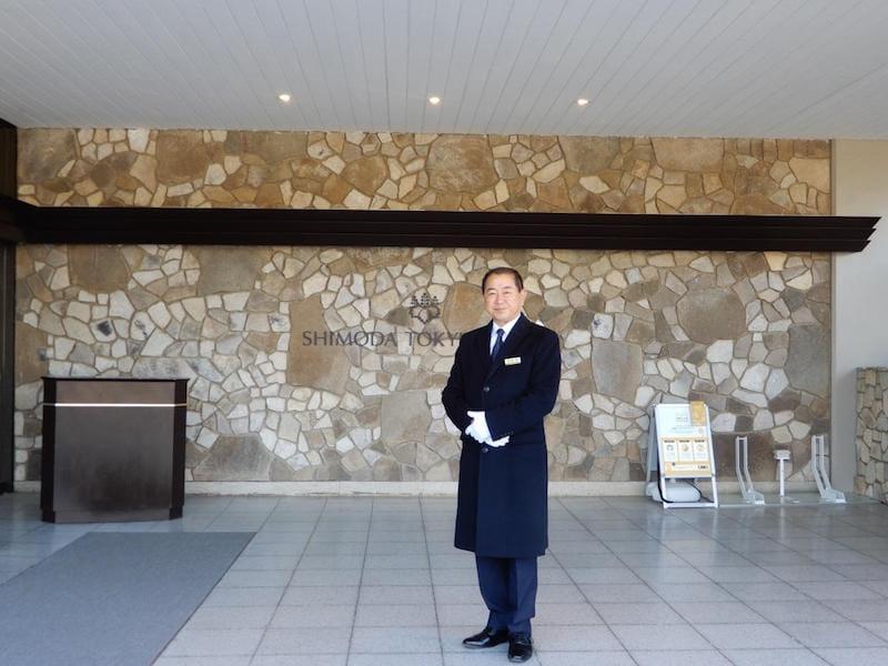 ▲下田東急ホテルのエントランス