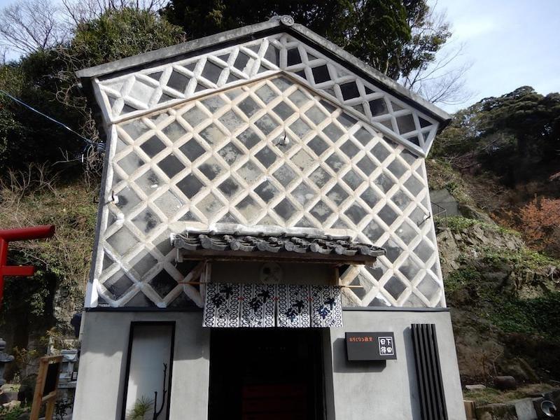 ▲和雑貨を扱うショップの2階は休憩所として開放されています