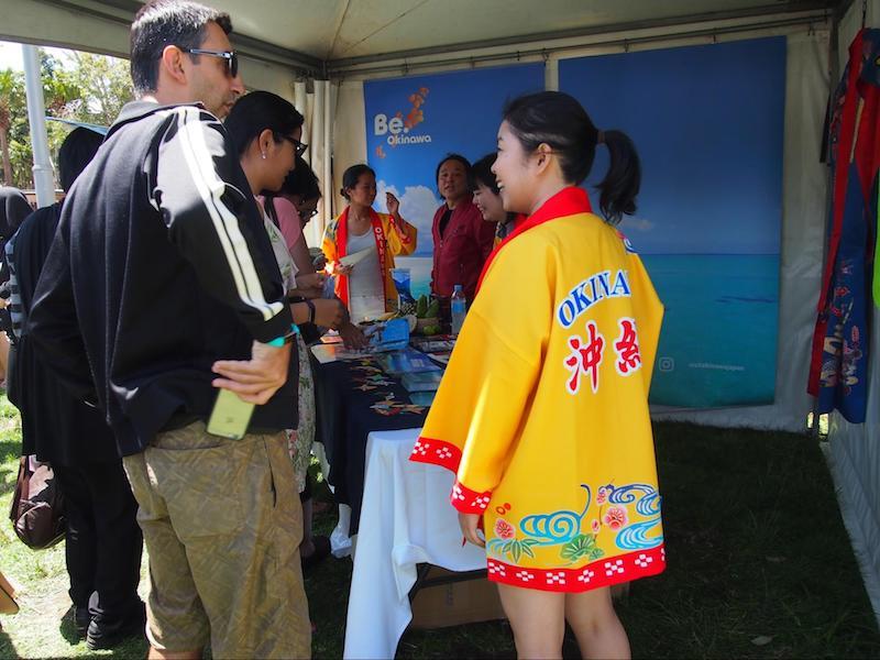 シドニーで開催「Matsuri-Japan Festival-」での沖縄観光コンベンションビューローのブースの様子