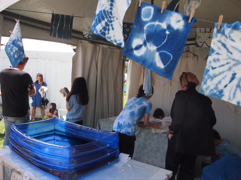 シドニーで開催「Matsuri-Japan Festival-」でのTRADITIONAL HANDCRAFTS(藍染)のブースの様子