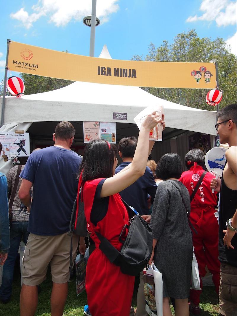 シドニーで開催「Matsuri-Japan Festival-」での伊賀上野観光協会のブースの様子
