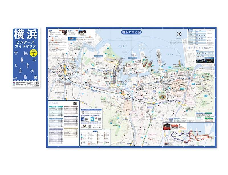 公益財団法人 横浜観光コンベンションビューローが発行するガイドマップで多言語対応されていて無料(英語、中国語簡体字、繁体字、韓国語、タイ語)