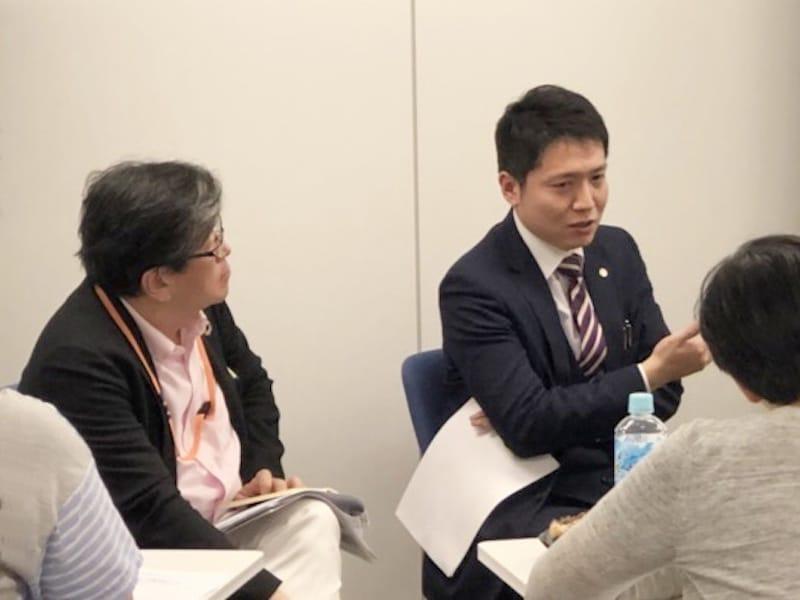 「行政書士明るい総合法務事務所」代表・長岡由剛氏とEDAS理事長・田村拓氏