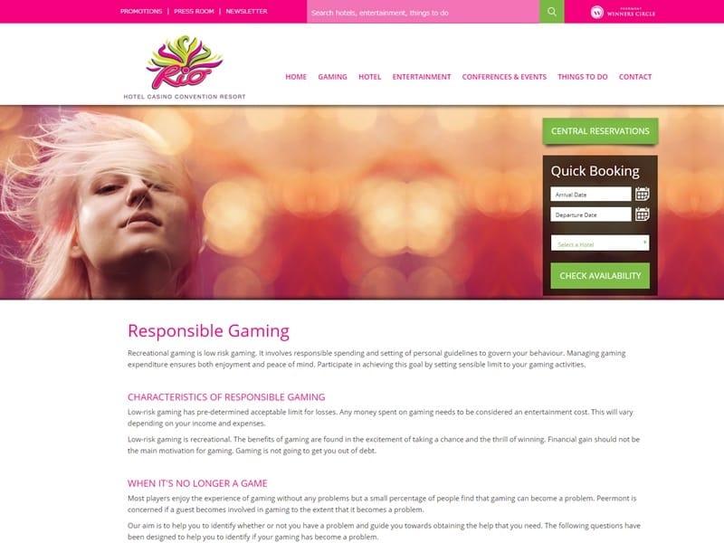リオカジノリゾート公式ホームページ 「ギャンブル依存症の方へ」