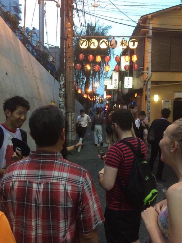 渋谷のんべい横丁前