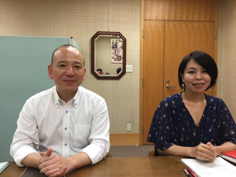 ▲左:江尻英夫氏は香港駐在経験あり、右:森由貴氏はパリ駐在経験あり