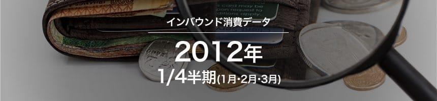 2012年1/4半期(1月・2月・3月)のインバウンド消費データ(訪日外国人消費動向)画像