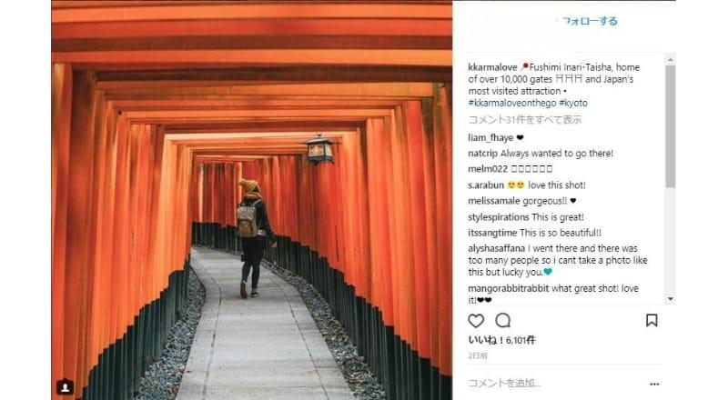 朱色の鳥居は訪日外国人が人気:和を感じさせる幻想的な雰囲気に訪日外国人に高評価か