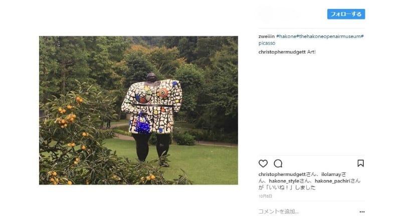 野外のアート作品も訪日外国人に人気