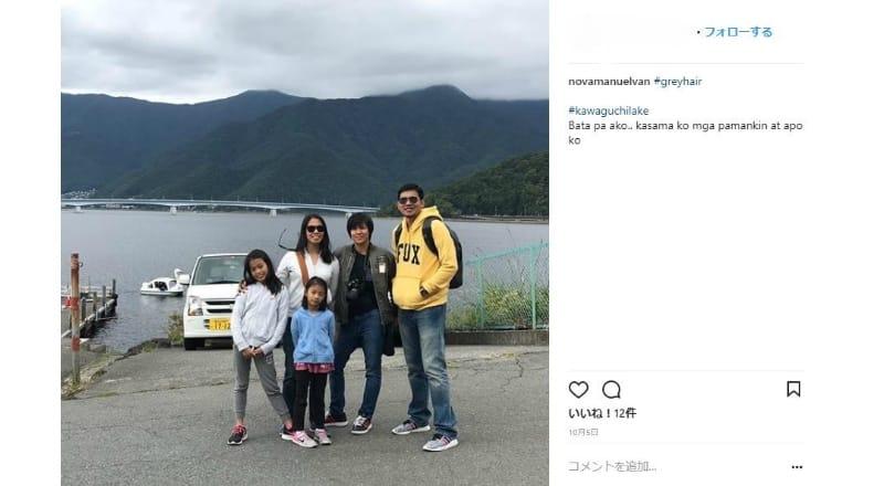 河口湖は家族で訪日した外国人にも人気か