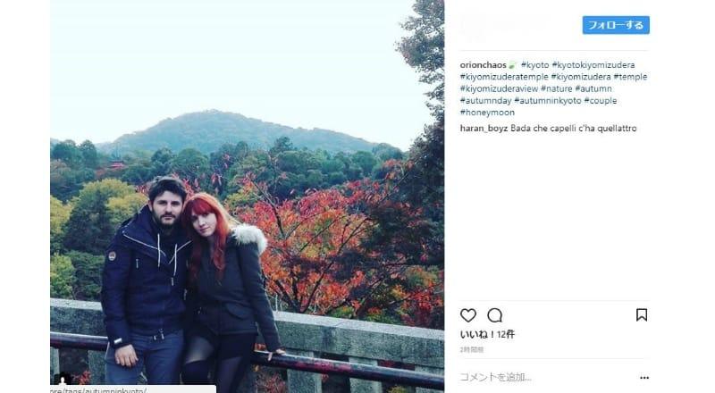 紅葉をバックにした写真撮影が訪日外国人に人気