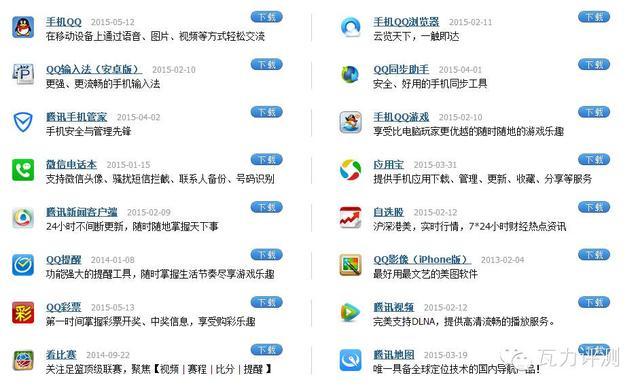 図1:テンセント社(騰訊)が提供するサービス